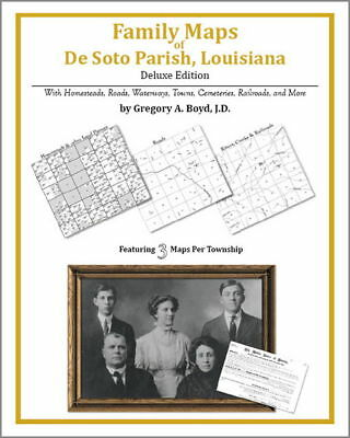 Family Maps De Soto Parish Louisiana Genealogy LA Plat