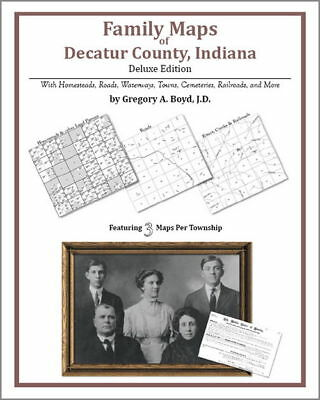 Family Maps Decatur County Indiana Genealogy IN Plat