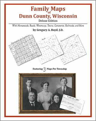 Family Maps Dunn County Wisconsin Genealogy WI Plat