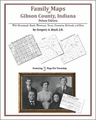 Family Maps Gibson County Indiana Genealogy IN Plat