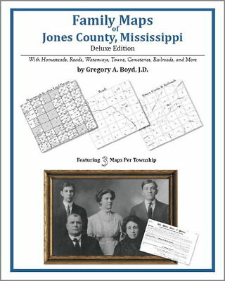 Family Maps Jones County Mississippi Genealogy MS Plat