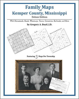 Family Maps Kemper County Mississippi Genealogy MS Plat