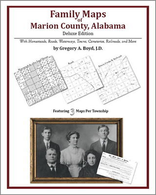 Family Maps Marion County Alabama Genealogy AL Plat