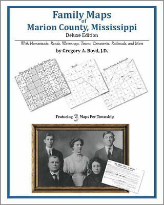 Family Maps Marion County Mississippi Genealogy MS Plat