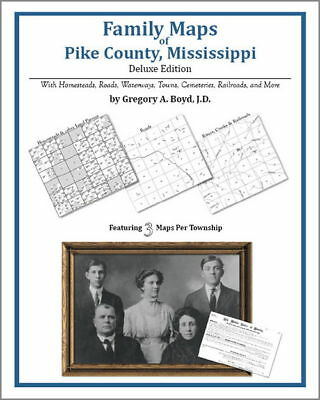 Family Maps Pike County Mississippi Genealogy MS Plat