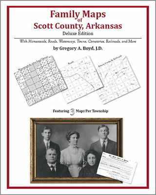 Family Maps Scott County Arkansas Genealogy AR Plat