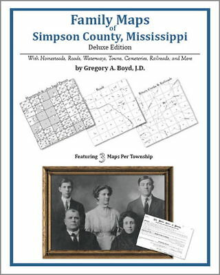 Family Maps Simpson County Mississippi Genealogy Plat