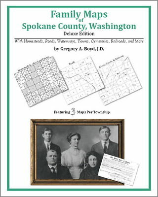 Family Maps Spokane County Washington Genealogy WA Plat