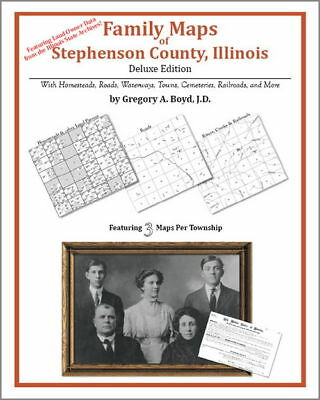Family Maps Stephenson County Illinois Genealogy Plat