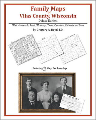 Family Maps Vilas County Wisconsin Genealogy WI Plat