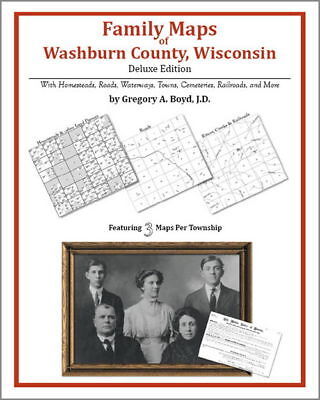 Family Maps Washburn County Wisconsin Genealogy WI Plat