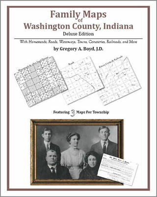 Family Maps Washington County Indiana Genealogy IN Plat