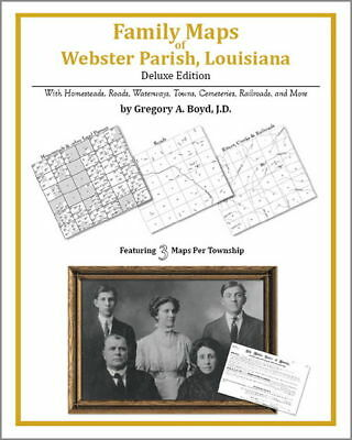 Family Maps Webster Parish Louisiana Genealogy LA Plat
