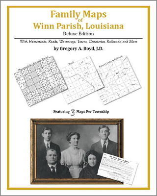 Family Maps Winn Parish Louisiana Genealogy LA Plat