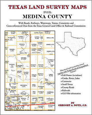 Medina County Texas Land Survey Maps Genealogy History