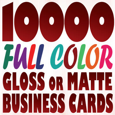 10000 Full Color Custom BUSINESS CARD Printing on a 16pt Gloss or Matte Finish