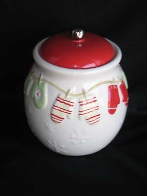Hallmark Christmas Mittens and Snowflakes Canister