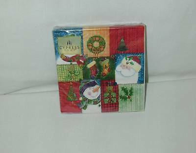 """Christmas  ''holiday Quilt"""" Paper Napkins-New-Sealed"""