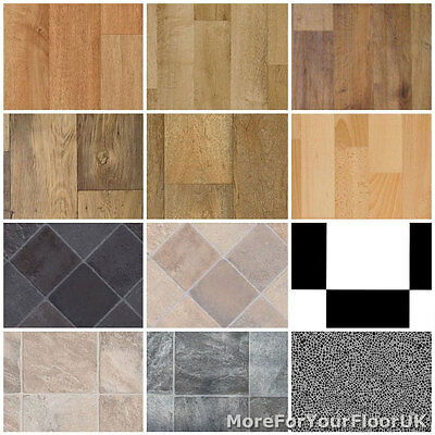 Non Slip Vinyl Flooring Kitchen, Bathroom CHEAP Lino 3m