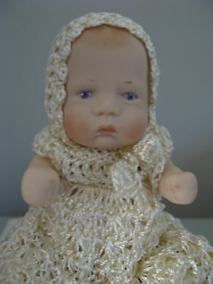 Porcelain Doll Hand Crafted In Australia  Hand Crochet Outfits Poseable Limbs