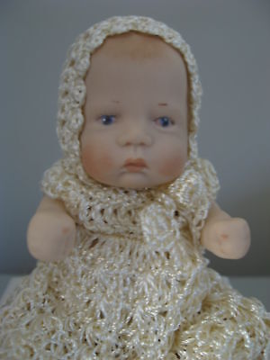 Porcelain Doll - Hand Crafted In Australia - Hand Crochet Outfits