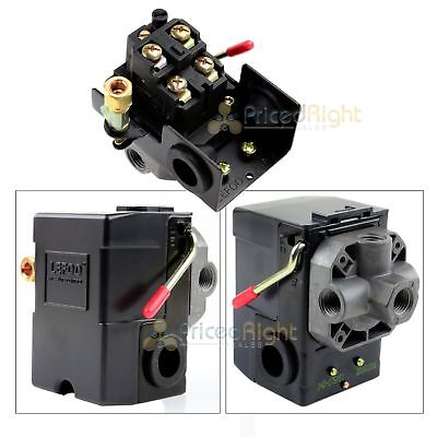 Four Port Air Compressor Pressure Switch Control Valve 145-175 PSI  w/ Unloader