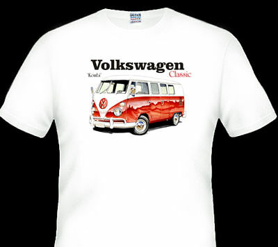 VW KOMBI   1960s           WHITE TSHIRT    MEN'S  LADIES   KID'S  SIZES