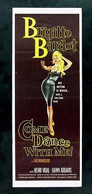COME DANCE WITH ME * CineMasterpieces SEXY BRIGITTE BARDOT MOVIE POSTER 1960