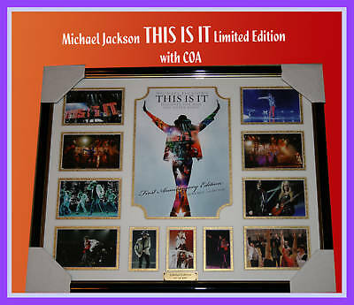 Michael Jackson This Is It Memorabilia Limited Framed
