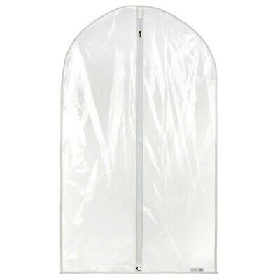 "18 Clear Showerproof Suit Covers Garment Clothes Protector Bags 40"" Hangerworld"