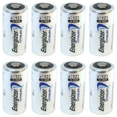 Energizer Cr123A Cr123 Cr 123 123A Lithium Battery X 8