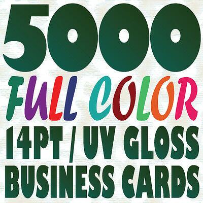 5000 Full Color Custom BUSINESS CARD Printing on a 14pt Gloss or Matte Finish