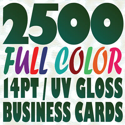 2500 Full Color Custom BUSINESS CARD Printing on a 14pt Gloss or Matte Finish