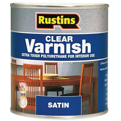 Rustins Polyurethane Varnish Clear Satin 250ml