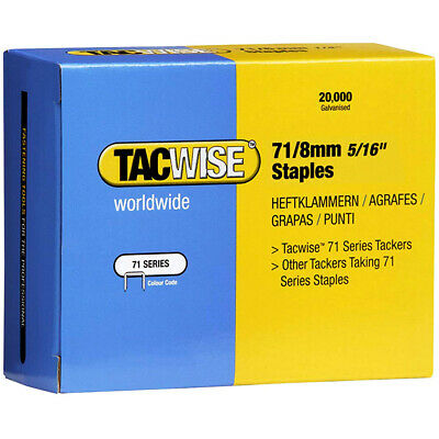 Tacwise 0368 Type 71/8 Series Staples 8mm 20000 Pack