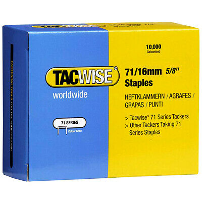Tacwise 0372 Type 71/16 Series Staples 16mm 10000 Pack