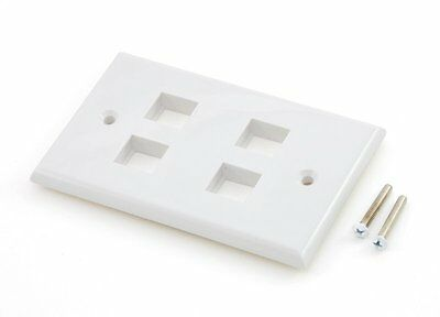 Keystone wall plate - 4 port white