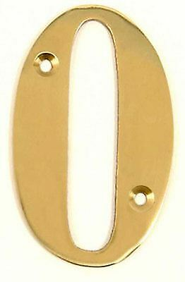 """Screw Fixed House Door Numbers 3"""" inch Solid Brass with Polished Brass Finish"""