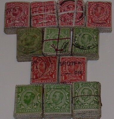 GB 1911 DOWNEY HEAD KG5..600 stamps cv£1500+ VINTAGE BUNDLEWARE ORIGINAL 1920s