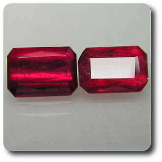 4.7 cts LOT DE 2 RUBIS ROUGE SANG .VS . Madagascar