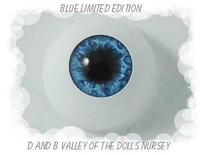 REBORN DOLL Full Rounds18mm Real Eyes Brand  Blue