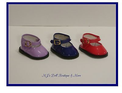 Blue Patent Mary Jane Shoes fits American Girl Doll