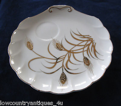 Lefton Handpainted China Gold Gild Sandwich Snack Plate