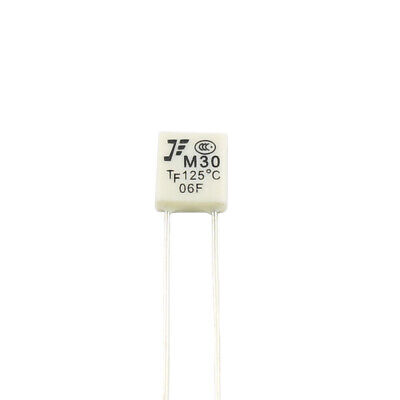 50Pcs New M30 TF 125℃ Thermal Fuse