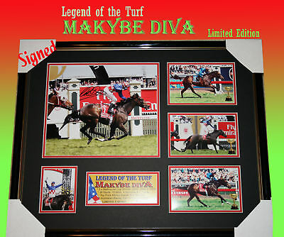 "Makybe Diva Horse Racing Memorabilia Signed Frame Limited; "" Legend Of The Turf"""