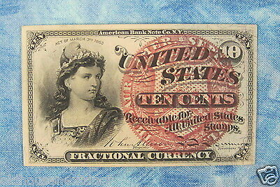 U.S. Fractional-1259 Currency, 4th Issue, 10 cents, 1863,  (p-135)