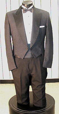 Mens Vintage Tails Tuxedo Charcoal Grey 4Pc 40S
