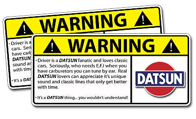 Classic Datsun LOVER Warning Sticker Decal Car Sedan