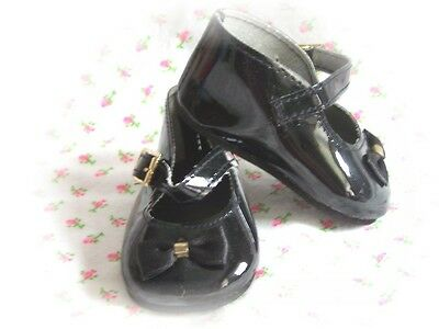 Reborn Doll 72mm Black Patent Mary Jane Shoes w/ Bow -  REBORN SUPPLIES
