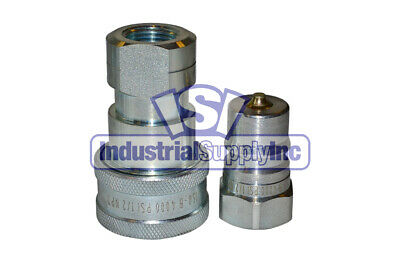 """1/2"""" ISO-B Hydraulic Hose Quick Disconnect Coupler"""